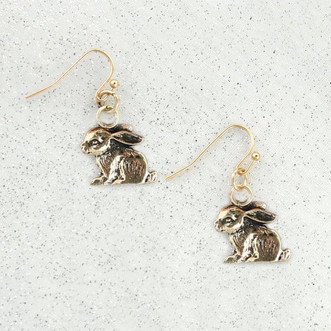 Gold Bunny Earrings