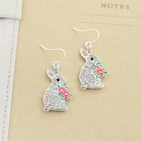 Crystal Bunny Earrings
