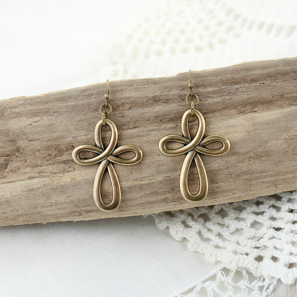 Vintage Style Cross Knot Earrings