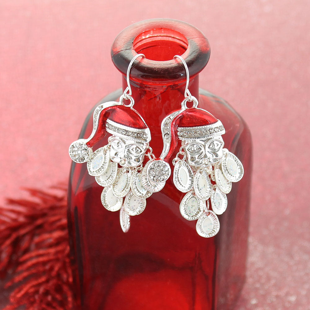 Dangle Beard Santa Earrings