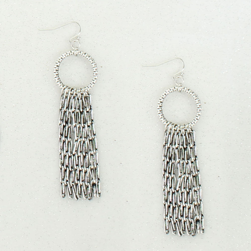 Antique Silver Waterfall Earrings