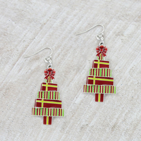 Christmas Gift Tree Earrings