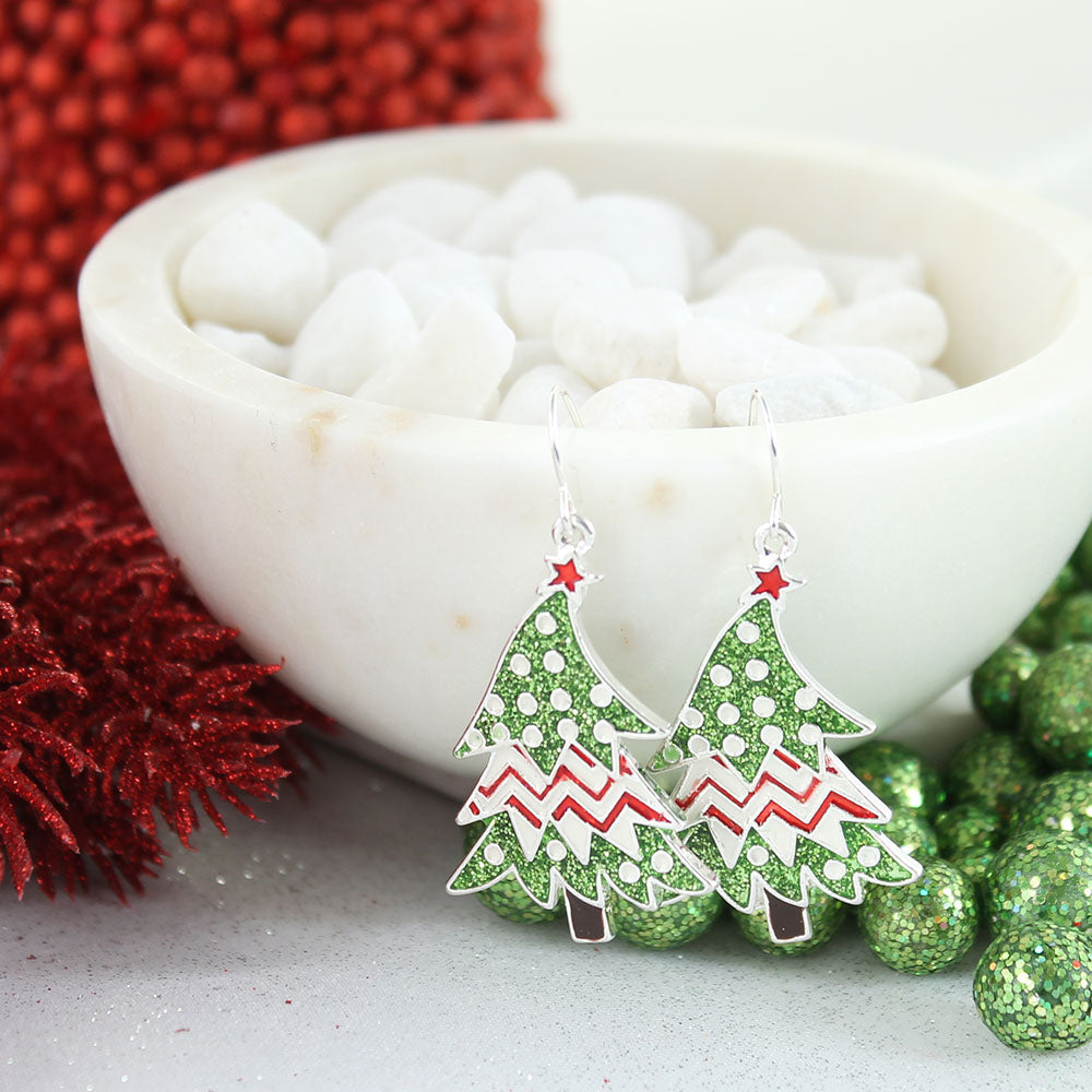 Whimsical Christmas Tree Earrings