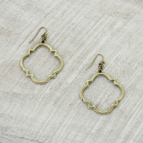 Vintge Style Quatrefoil Earrings