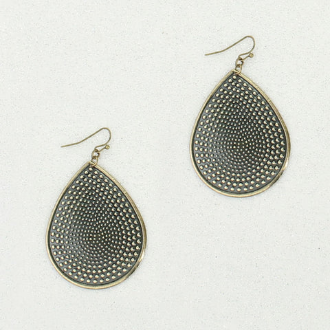 Vintage Style Teardrop Earrings