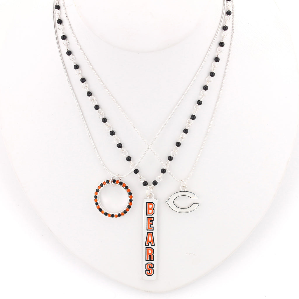 Chicago Bears Trio Necklace Set