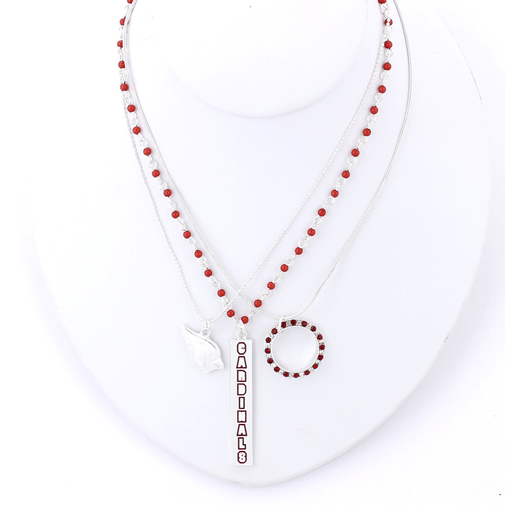 Arizona Cardinals Trio Necklace Set