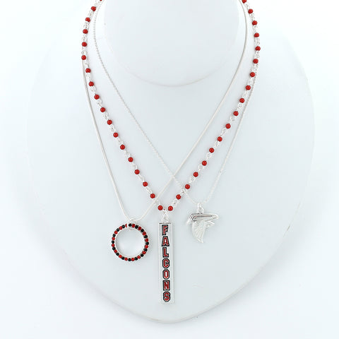 Atlanta Falcons Trio Necklace Set