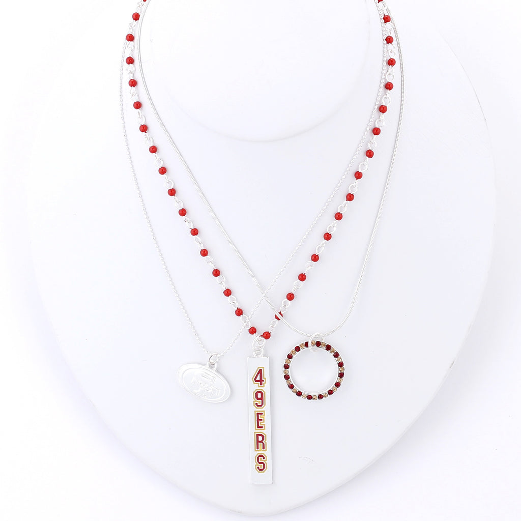 San Francisco 49ers Trio Necklace Set