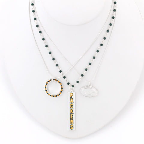 Green Bay Packers Trio Necklace Set