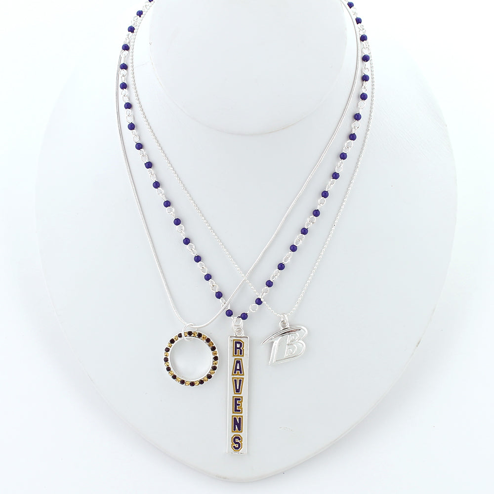 Baltimore Ravens Trio Necklace Set