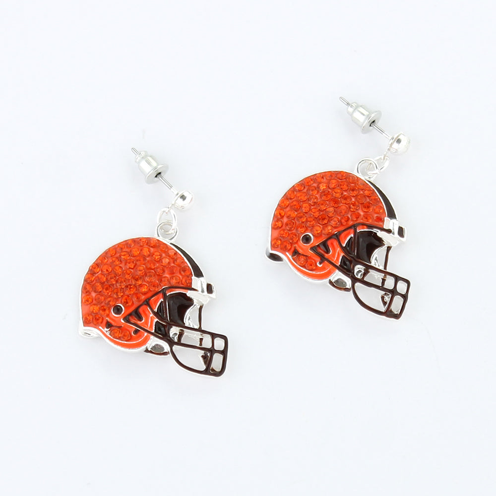 Cleveland Browns Crystal Logo Earrings