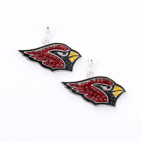 Arizona Cardinals Crystal Logo Earrings