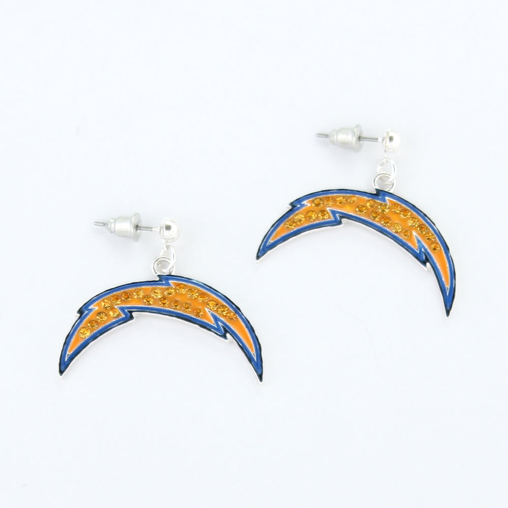San Diego Chargers Crystal Logo Earrings