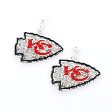 Kansas City Chiefs Crystal Logo Earrings