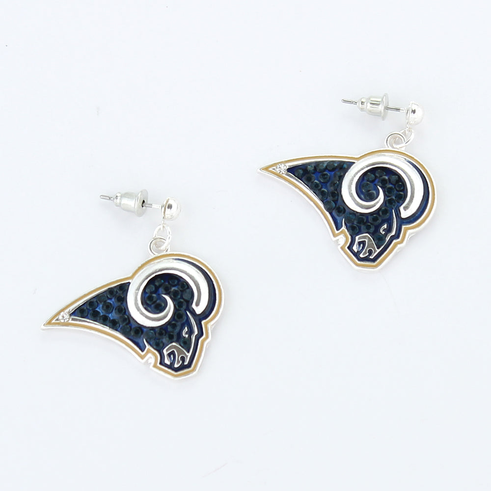Los Angeles Rams Crystal Logo Earrings