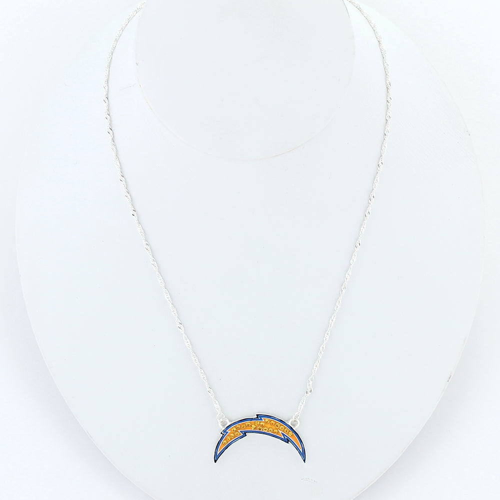 San Diego Chargers Crystal Logo Necklace