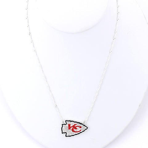 Kansas City Chiefs Crystal Logo Necklace