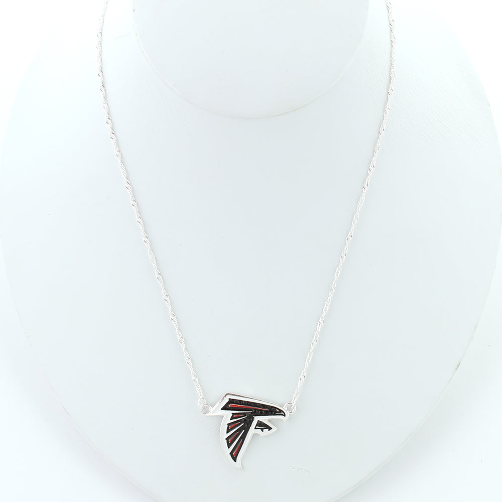 Atlanta Falcons Crystal Logo Necklace