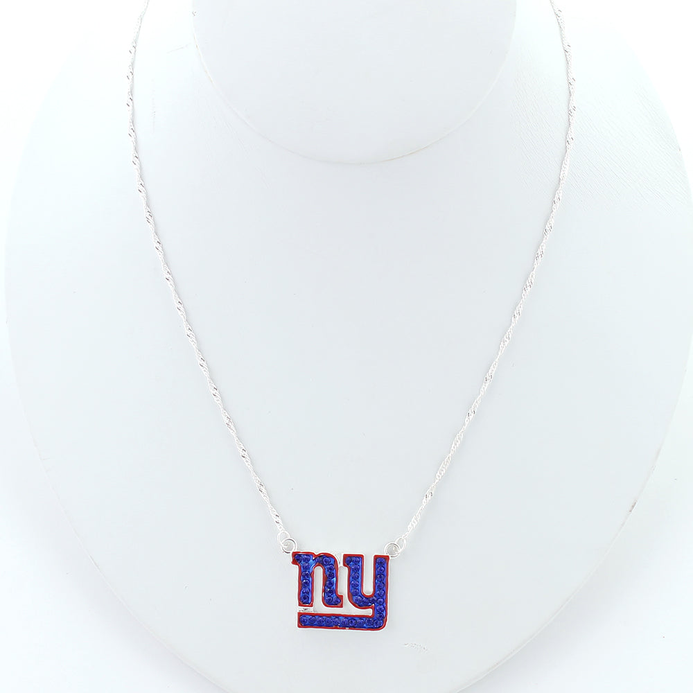 New York Giants Crystal Logo Necklace
