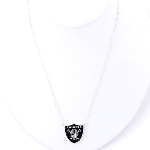 Oakland Raiders Crystal Logo Necklace