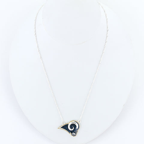 Los Angeles Rams Crystal Logo Necklace