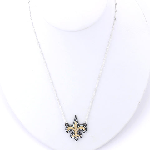 New Orleans Saints Crystal Logo Necklace