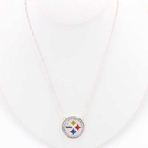 Pittsburgh Steelers Crystal Logo Necklace