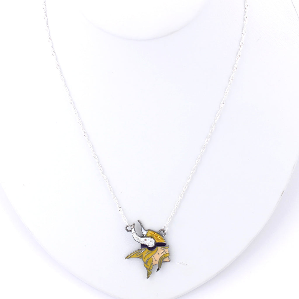 Minnesota Vikings Crystal Logo Necklace
