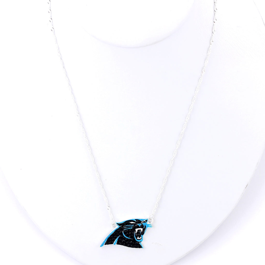 Carolina Panthers Crystal Logo Necklace