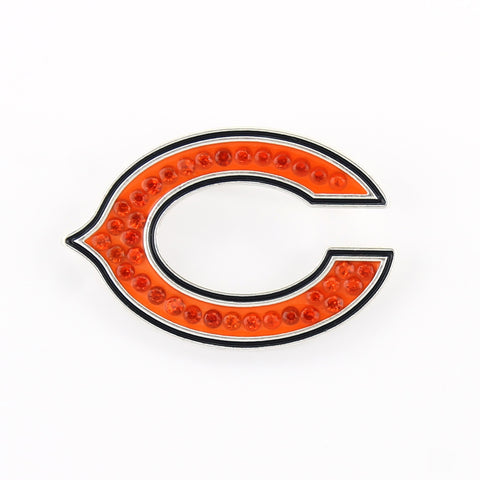 Chicago Bears Crystal Logo Pin