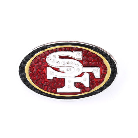San Francisco 49ers Crystal Logo Pin