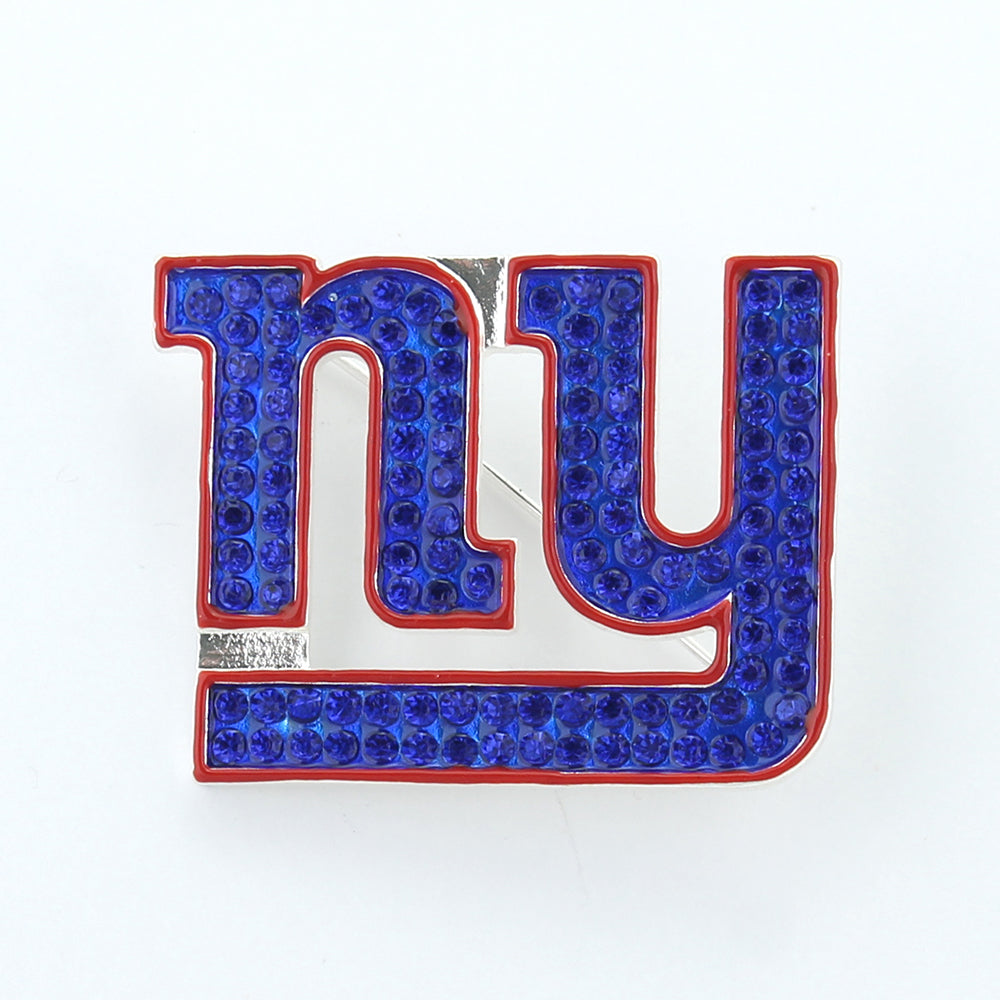 New York Giants Crystal Logo Pin