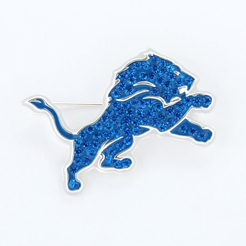Detroit Lions Crystal Logo Pin