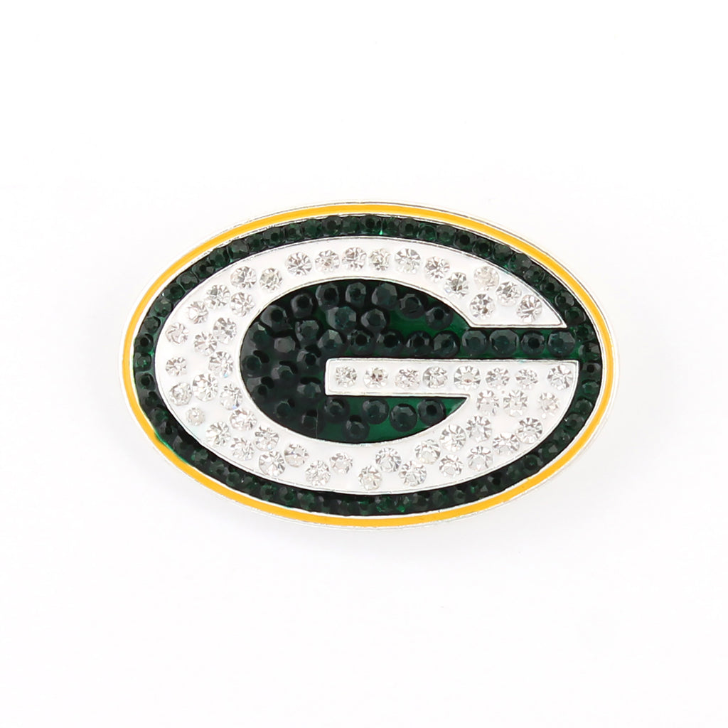 Green Bay Packers Crystal Logo Pin
