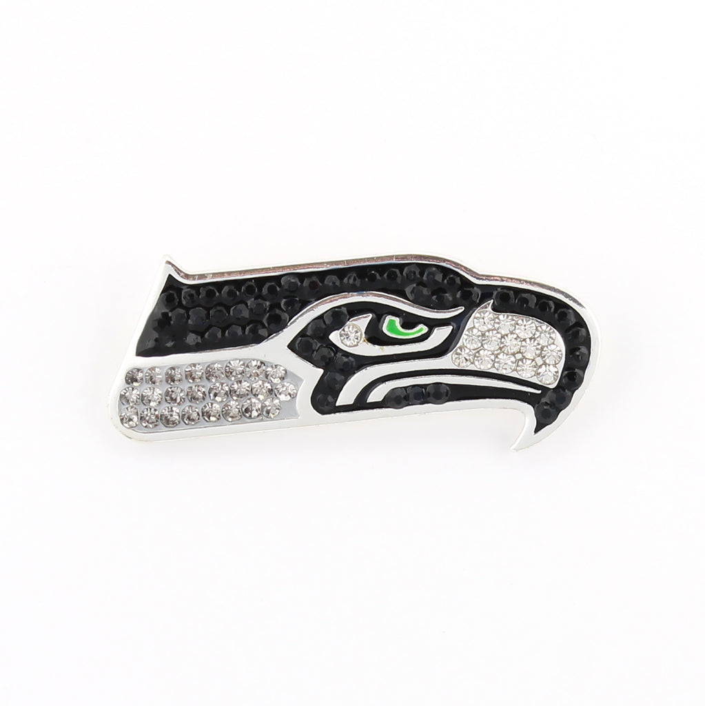 Seattle Seahawks Crystal Logo Pin