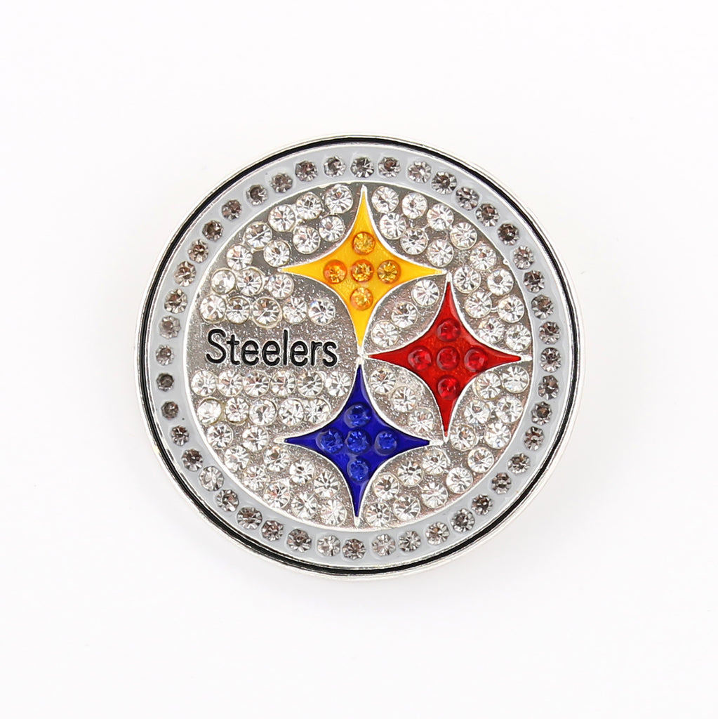 Pittsburgh Steelers Crystal Logo Pin
