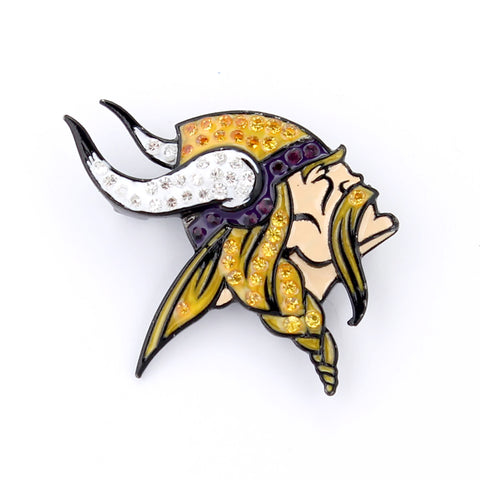 Minnesota Vikings Crystal Logo Pin