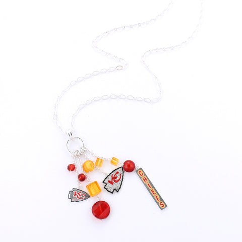 Kansas City Chiefs Cluster Necklace