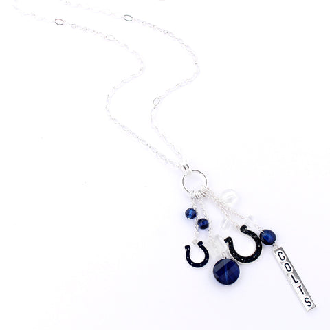 Indianapolis Colts Cluster Necklace