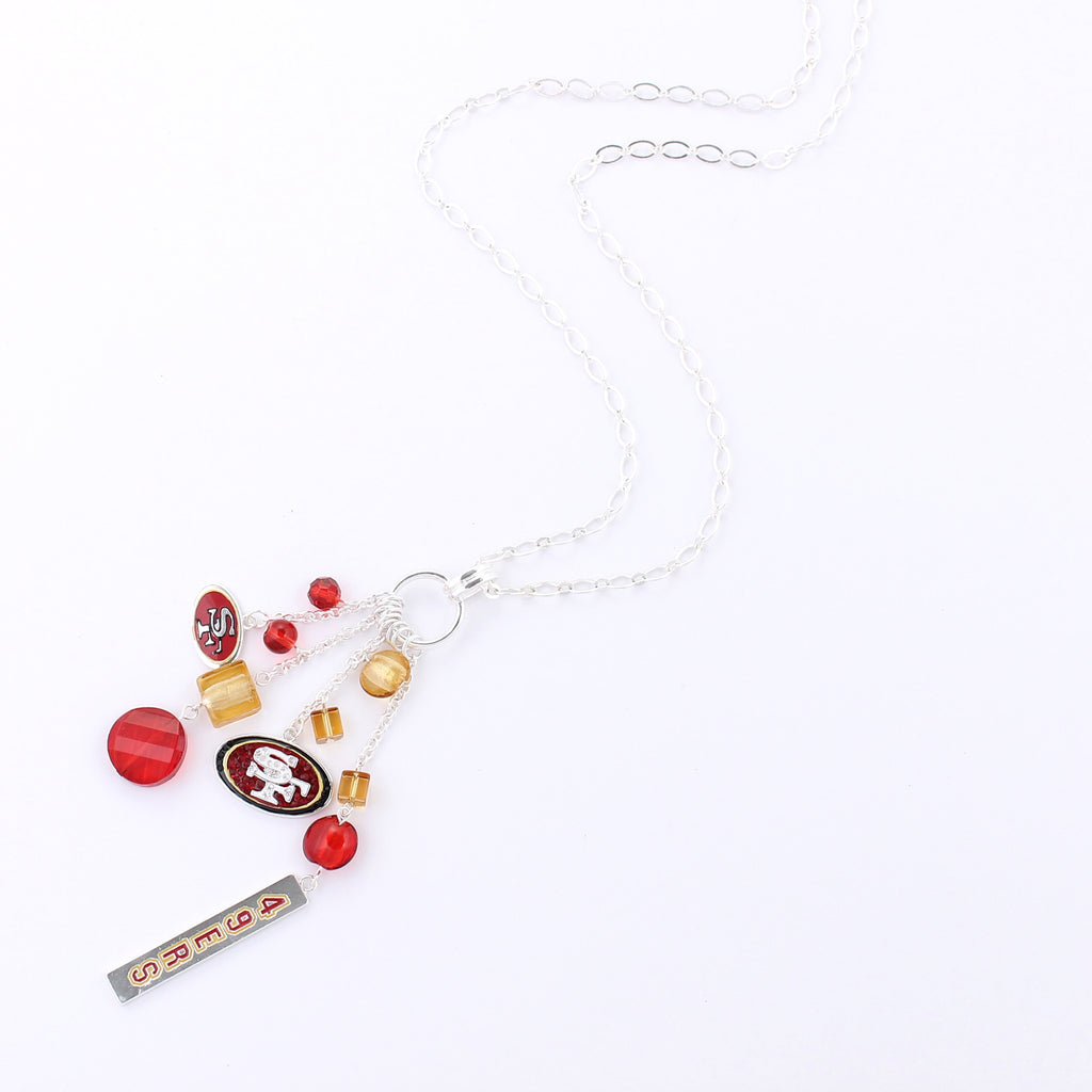 San Francisco 49ers Cluster Necklace