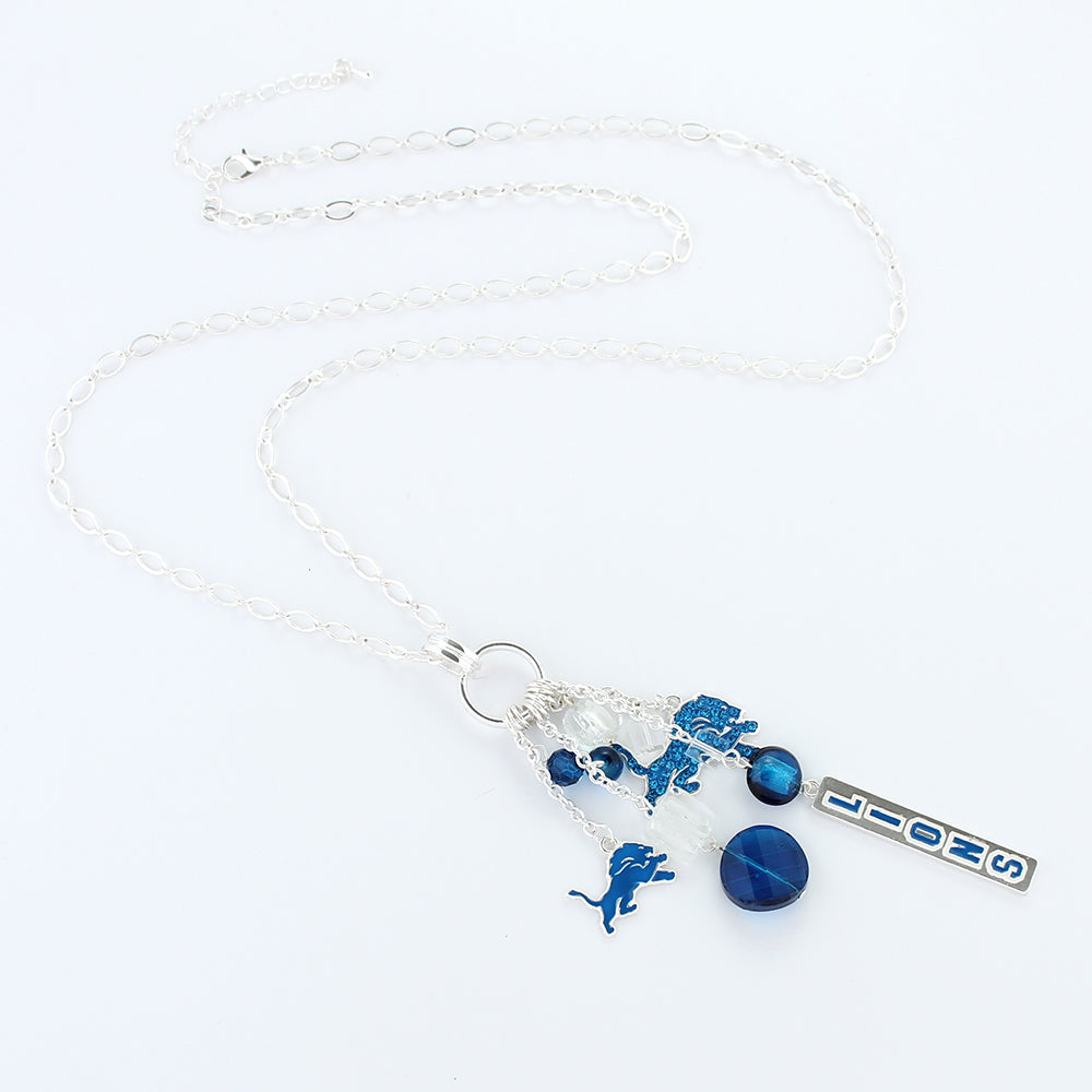 Detroit Lions Cluster Necklace