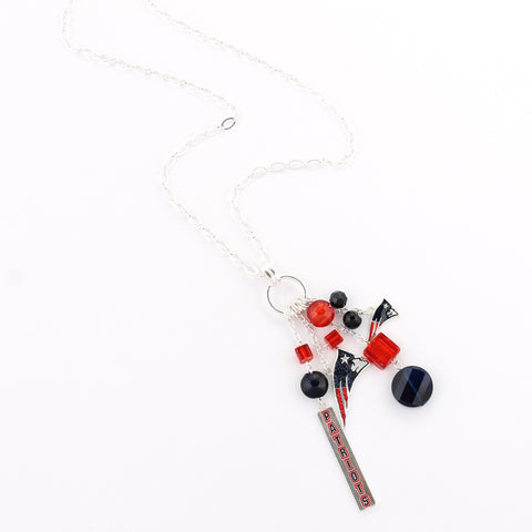 New England Patriots Cluster Necklace