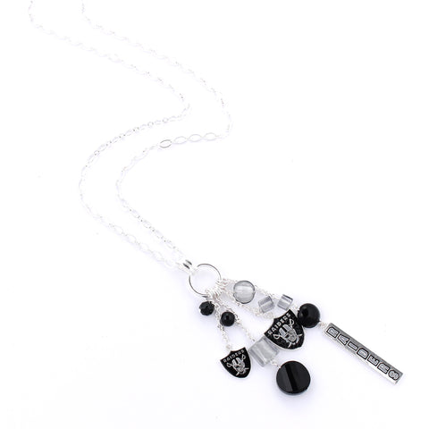 Oakland Raiders Cluster Necklace