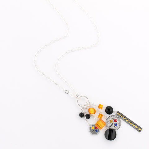 Pittsburgh Steelers Cluster Necklace