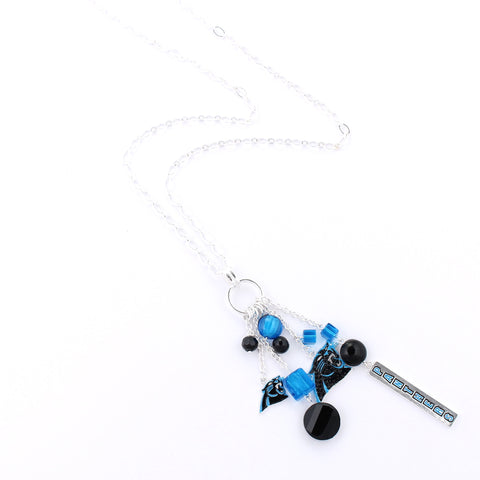 Carolina Panthers Cluster Necklace