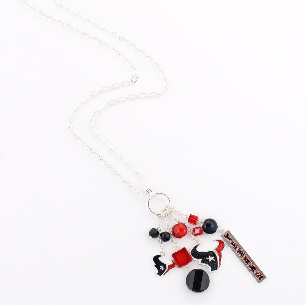 Houston Texans Cluster Necklace