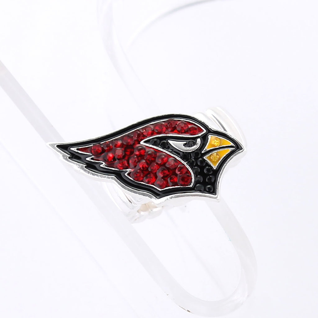 Arizona Cardinals Crystal Logo Stretch Ring