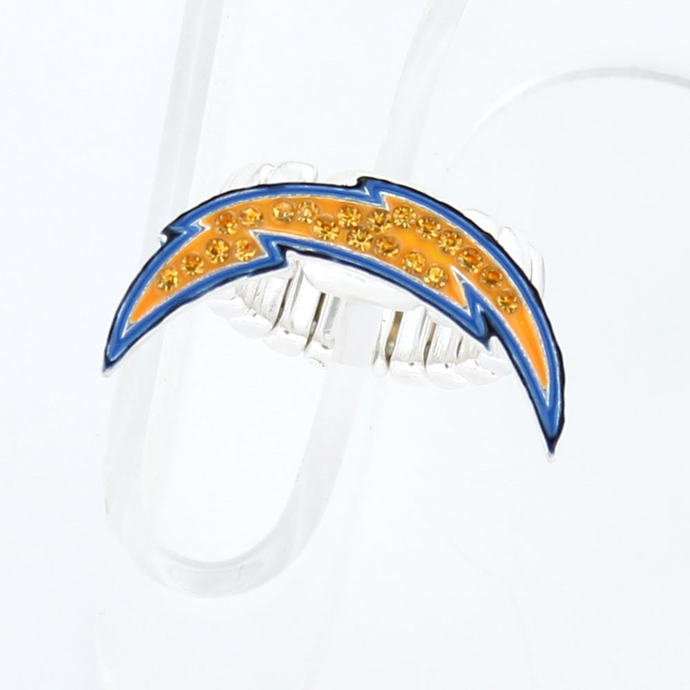 San Diego Chargers Crystal Logo Stretch Ring