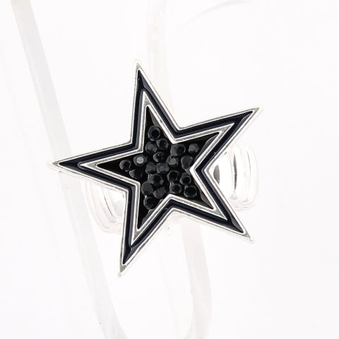 Dallas Cowboys Crystal Logo Stretch Ring